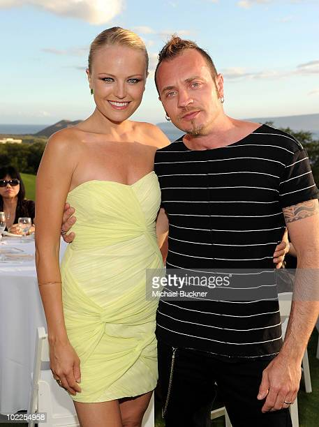 Actress Malin Akerman and Roberto Zincone attend the Taste of Wailea during the 2010 Maui Film Festival at the Celestial Cinema on June 19, 2010 in...