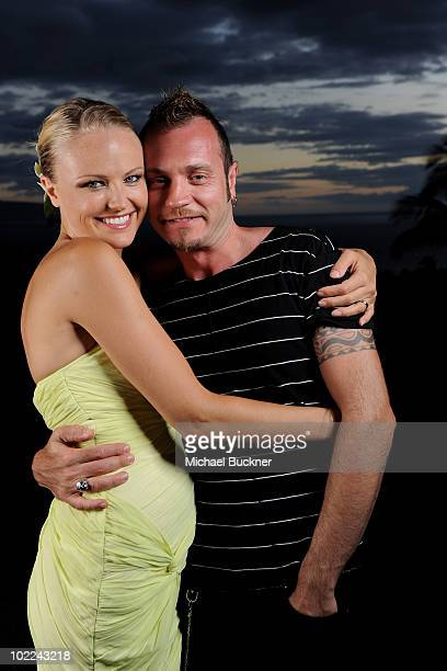 """Actress Malin Akerman and Roberto Zincone pose for a portrait at the screening of """"Happythankyourmoreplease"""" during the 2010 Maui Film Festival at..."""