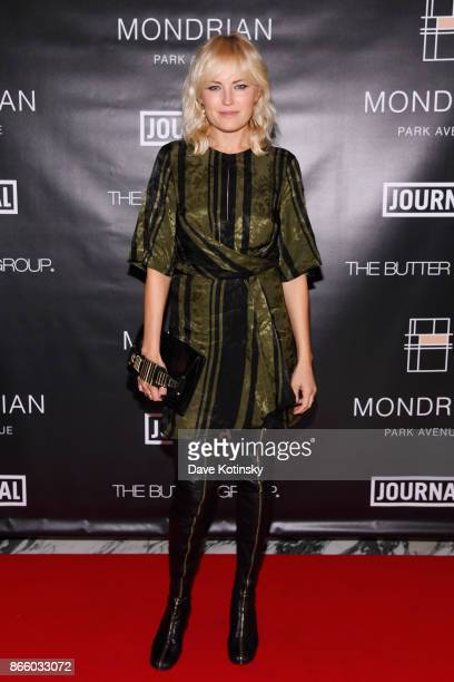 Actress Malin Akerman appears as Journal Hotels celebrate Mondrian Park Avenue's grand opening with special guest Debbie Harry on October 24 2017 in...