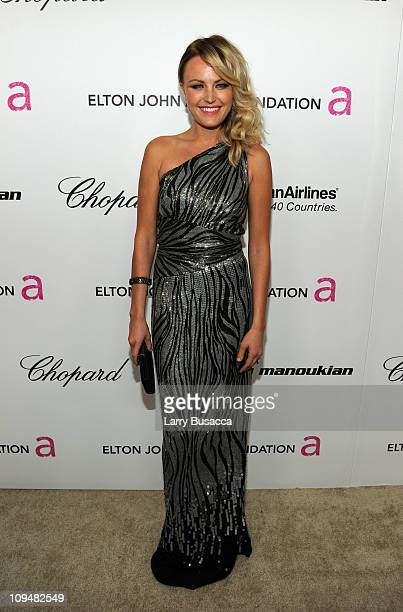 Actress Malin Akerman arrives at the 19th Annual Elton John AIDS Foundation Academy Awards Viewing Party at the Pacific Design Center on February 27...