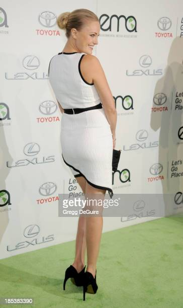 Actress Malin Akerman arrives at the 2013 Environmental Media Awards at Warner Bros Studios on October 19 2013 in Burbank California