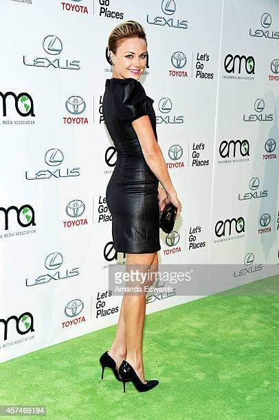 Actress Malin Akerman arrives at the 2014 Environmental Media Awards at Warner Bros Studios on October 18 2014 in Burbank California