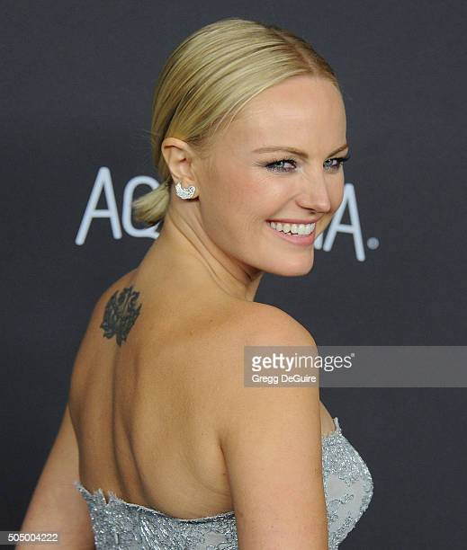Actress Malin Akerman arrives at the 2016 InStyle And Warner Bros 73rd Annual Golden Globe Awards PostParty at The Beverly Hilton Hotel on January 10...