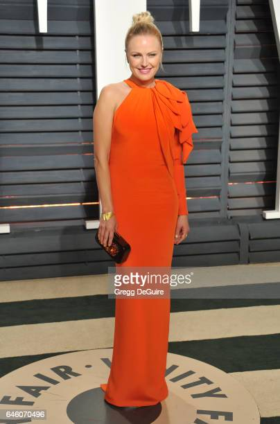 Actress Malin Akerman arrives at the 2017 Vanity Fair Oscar Party Hosted By Graydon Carter at Wallis Annenberg Center for the Performing Arts on...