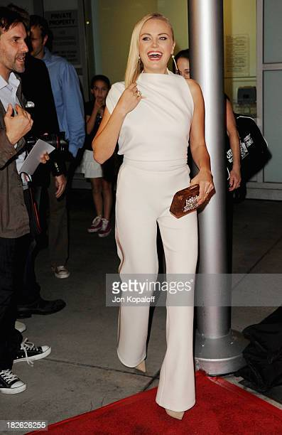 Actress Malin Akerman arrives at the Los Angeles Premiere 'CBGB' at ArcLight Cinemas on October 1 2013 in Hollywood California