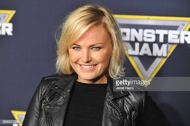 Actress Malin Akerman arrives at the Monster Jam at Angel Stadium of Anaheim on January 16 2016 in Anaheim California