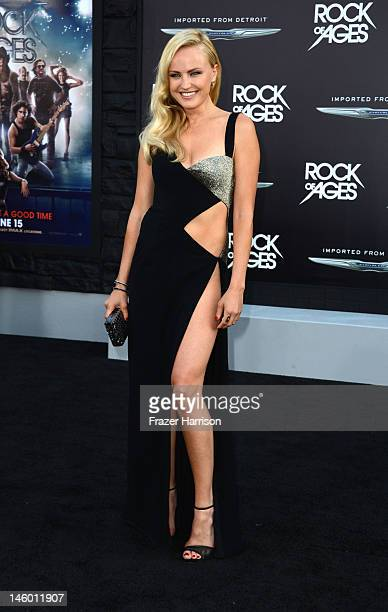 Actress Malin Akerman arrives at the premiere of Warner Bros Pictures' 'Rock of Ages' at Grauman's Chinese Theatre on June 8 2012 in Hollywood...