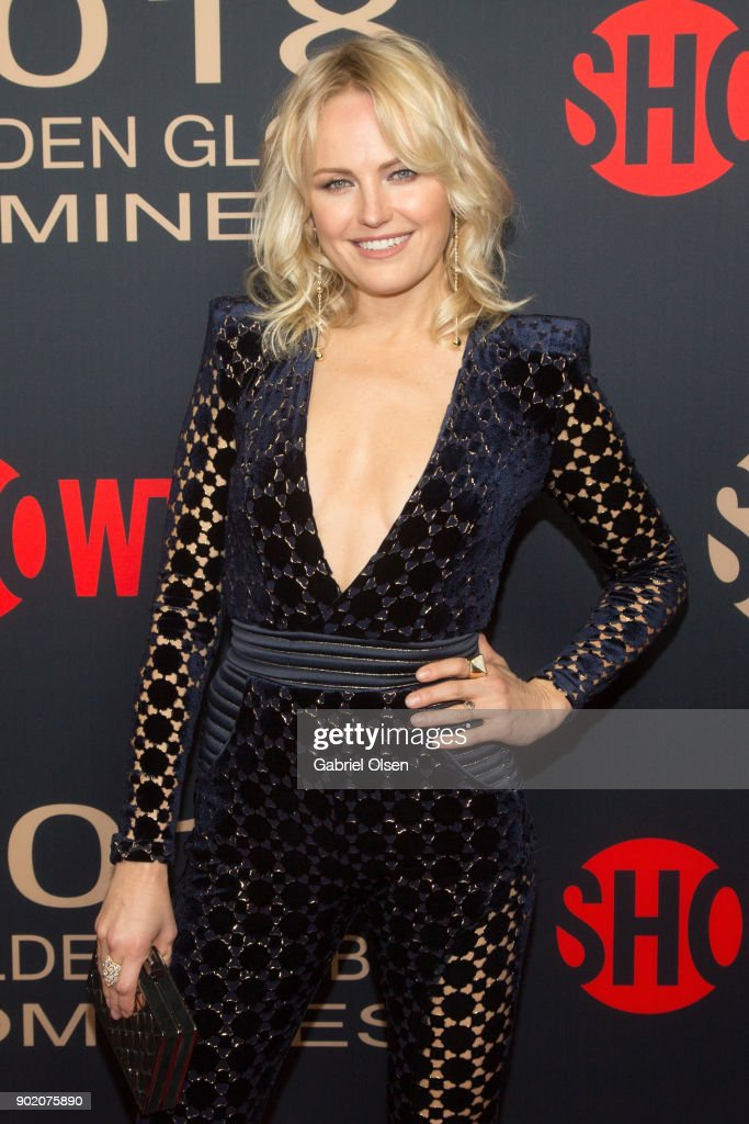 Actress Malin Akerman arrives for the Showtime Golden Globe Nominees Celebration at Sunset Tower on January 6, 2018 in Los Angeles, California.