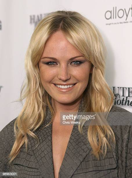 """Actress Malin Akerman attend a party for """"Haute & Bothered"""" Season 2 hosted by LG Mobile at the Thompson Hotel on May 10, 2010 in Beverly Hills,..."""