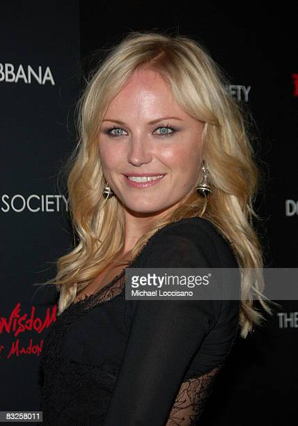 Actress Malin Akerman attends a screening of Filth and Wisdom hosted by The Cinema Society and Dolce and Gabbana at the IFC Center on October 13 2008...