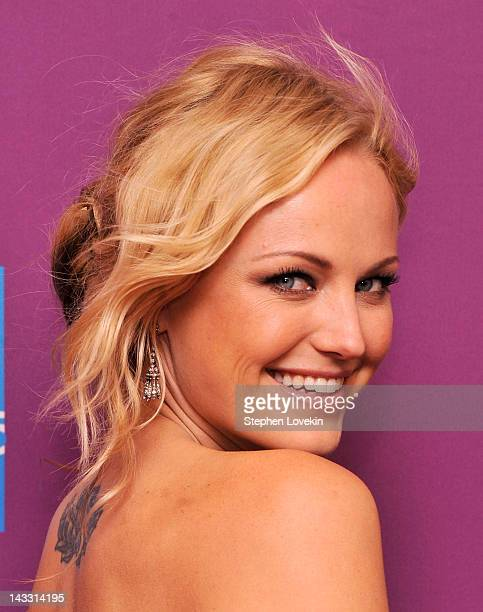 Actress Malin Akerman attends Giant Mechanical Man Premiere during the 2012 Tribeca Film Festival at the School of Visual Arts Theater on April 23...