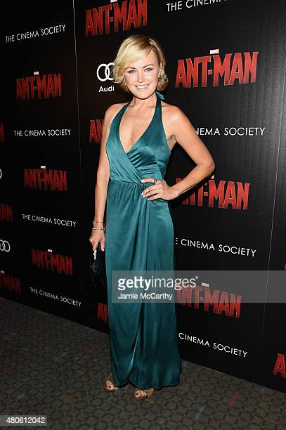 Actress Malin Akerman attends Marvel's screening of 'AntMan' hosted by The Cinema Society and Audi at SVA Theater on July 13 2015 in New York City
