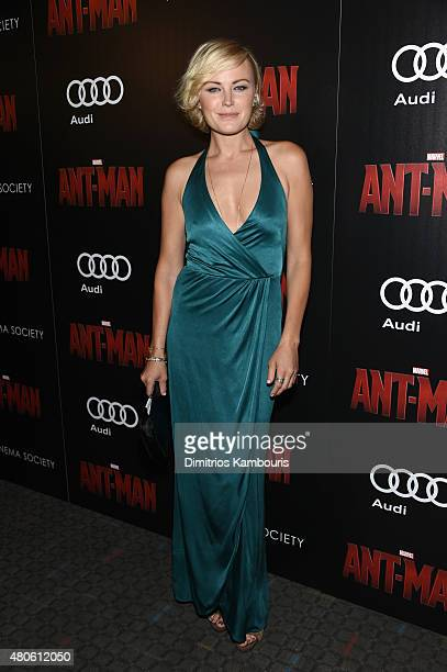 Actress Malin Akerman attends Marvel's screening of AntMan hosted by The Cinema Society and Audi at SVA Theater on July 13 2015 in New York City