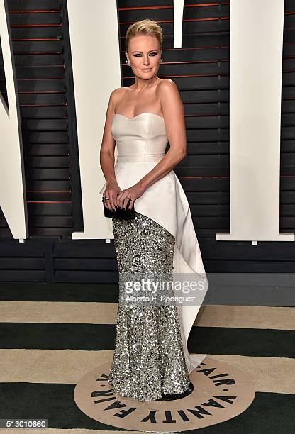 Actress Malin Akerman attends the 2016 Vanity Fair Oscar Party hosted By Graydon Carter at Wallis Annenberg Center for the Performing Arts on...