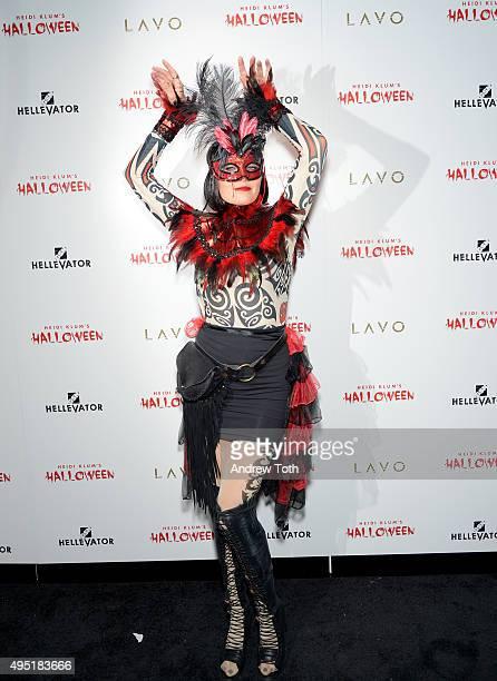 Actress Malin Akerman attends the Heidi Klum Halloween Party on October 31 2015 in New York City