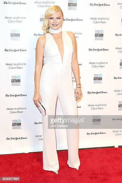 Actress Malin Akerman attends The Independent Filmmaker Project's 26th Annual Gotham Independent Film Awards at Cipriani Wall Street on November 28...