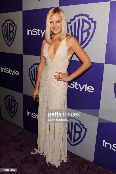Actress Malin Akerman attends the InStyle and Warner Bros 67th Annual Golden Globes postparty held at the Oasis Courtyard at The Beverly Hilton Hotel...