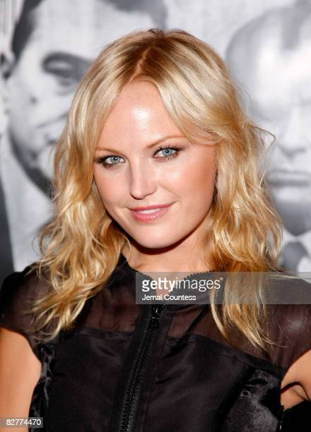 Actress Malin Akerman attends the New York premiere of 'Righteous Kill' at the Ziegfeld Theater on September 10 2008 in New York City