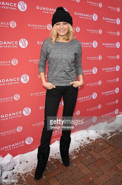 Actress Malin Akerman attends 'The Romantics' premiere during the 2010 Sundance Film Festival at Library Center Theatre on January 27 2010 in Park...