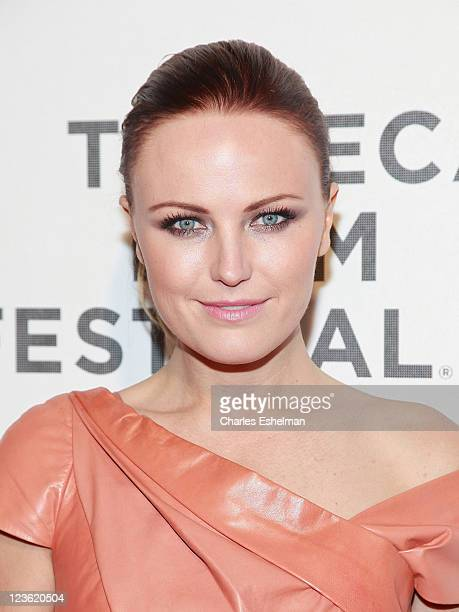 Actress Malin Akerman attends the Tribeca Film Festival and Cinema Society premiere of the Bang Bang Club at BMCC Tribeca PAC on April 21, 2011 in...