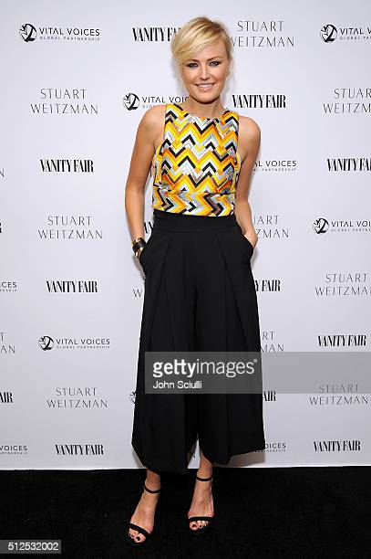 Actress Malin Akerman attends the Vanity Fair and Stuart Weitzman Luncheon to celebrate Elizabeth Banks at AOC on February 26 2016 in Los Angeles...