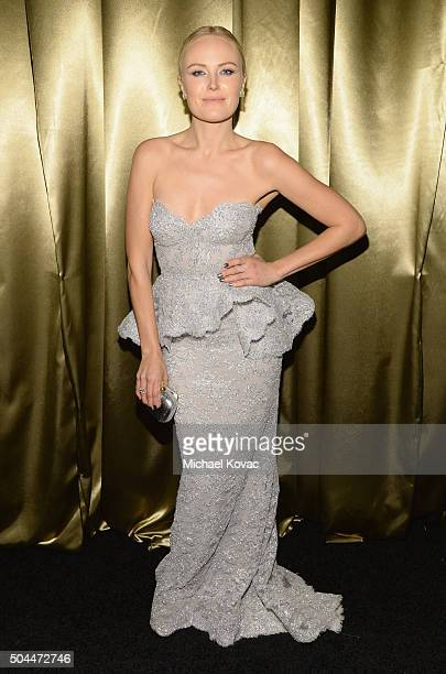 Actress Malin Akerman attends The Weinstein Company's 2016 Golden Globe Awards After Party at The Beverly Hilton Hotel on January 10 2016 in Beverly...