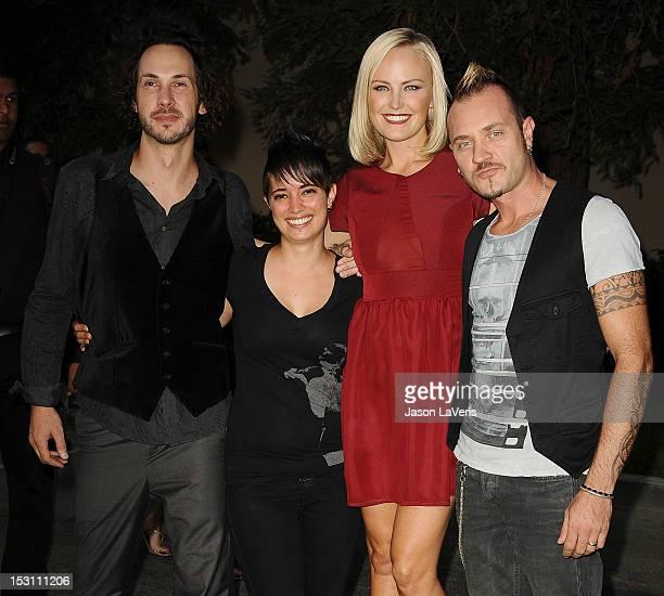 Actress Malin Akerman, husband Roberto Zincone and guests attend the 2012 Environmental Media Awards at Warner Bros. Studios on September 29, 2012 in...