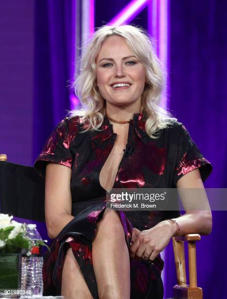 Actress Malin Akerman of the television show BILLIONS speaks onstage during the CBS/Showtime portion of the 2018 Winter Television Critics...