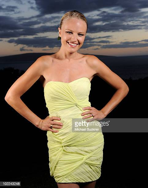 Actress Malin Akerman poses for a portrait at the screening of Happythankyourmoreplease during the 2010 Maui Film Festival at the Celestial Cinema on...