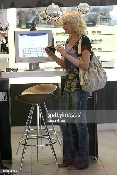 Actress Malin Akerman shops in Sunglass Hut at 3rd St Promenade on September 30 2009 in Santa Monica California