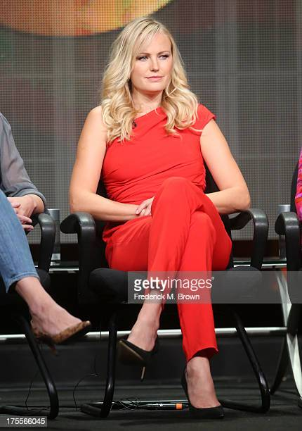 Actress Malin Akerman speaks onstage during the 'Trophy Wife' panel discussion at the Disney/ABC television Group portion of the Television Critics...