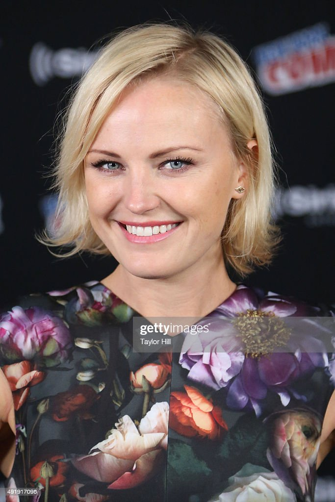 Actress Malin Akerman visits the SiriusXM Studios during the 2015 New York Comic-Con at The Jacob K. Javits Convention Center on October 8, 2015 in New York City.