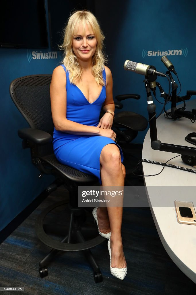 Actress Malin Akerman visits the SiriusXM Studios on April 9, 2018 in New York City.