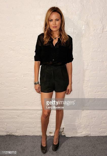Actress Malin Akerman visits the Tribeca Film Festival 2011 portrait studio on April 21 2011 in New York City