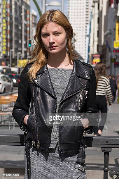 Actress Malin Buska visit Madrid to present the film quotQueen Cristina the woman was kingquot Madrid Spain on April 13 2016