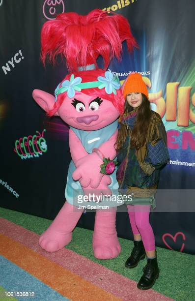 Actress Malina Weissman attends the Dreamworks Trolls The Experience opening at Trolls The Experience on November 14 2018 in New York City