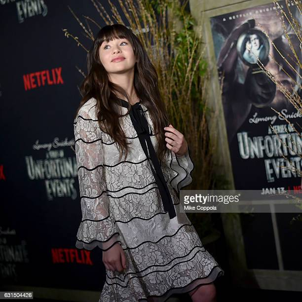 Actress Malina Weissman attends the 'Lemony Snicket's A Series Of Unfortunate Events' Screening at AMC Lincoln Square Theater on January 11 2017 in...