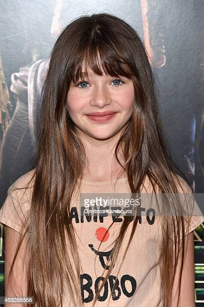 Actress Malina Weissman attends the Teenage Mutant Ninja Turtles New York premiere at AMC Lincoln Square Theater on August 6 2014 in New York City