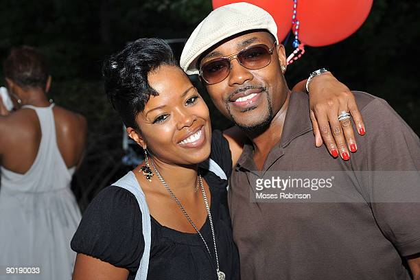 Actress Malinda Williams and producer Will Packer attend a party to welcome Terri J Vaughn to Atlanta at a Private Residence on August 29 2009 in...