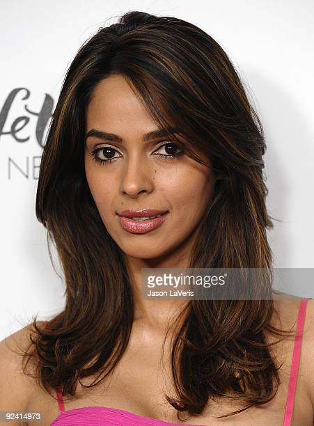 Actress Mallika Sherawat attends Hollywood Media's event honoring New York Times columnist Nicholas Kristof at Moura Starr on Melrose on October 27...