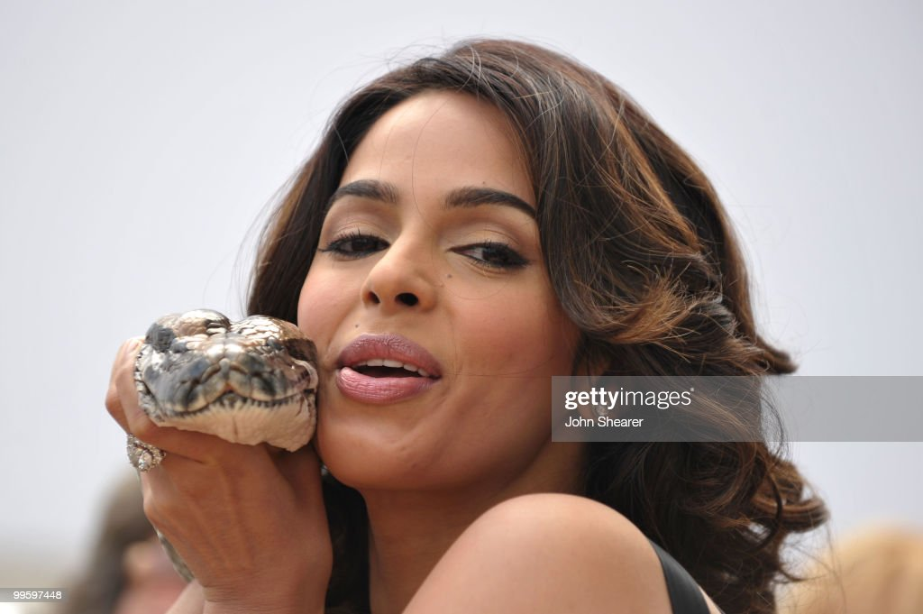 Actress Mallika Sherawat attends the 'Hisss' Photo Call held at the Hotel Majestic during the 63rd Annual International Cannes Film Festival on May 16, 2010 in Cannes, France.
