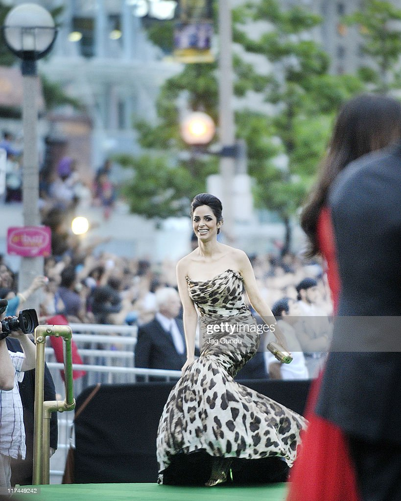 Actress Mallika Sherawat attends the IIFA Awards green Carpet at the Rogers Centre on June 25, 2011 in Toronto, Canada.