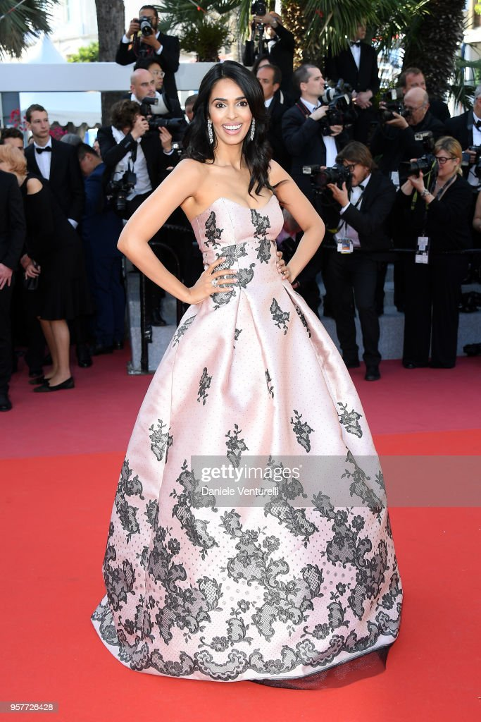 Actress Mallika Sherawat attends the screening of 'Girls Of The Sun (Les Filles Du Soleil)' during the 71st annual Cannes Film Festival at Palais des Festivals on May 12, 2018 in Cannes, France.