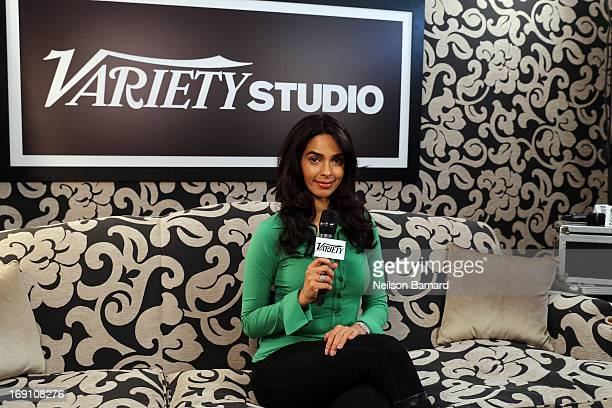 Actress Mallika Sherawat attends the Variety Studio at Chivas House on May 20 2013 in Cannes France