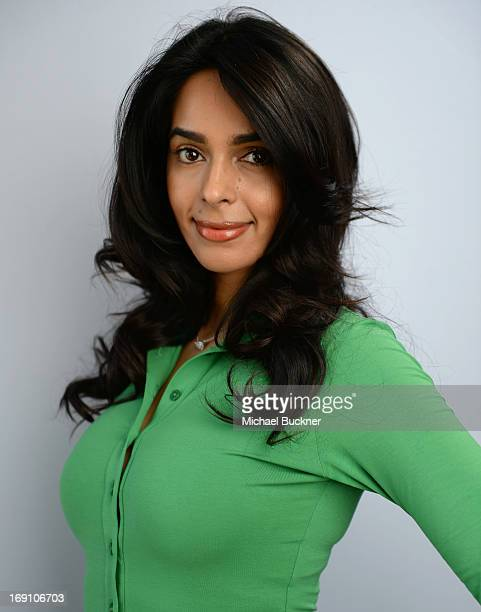 Actress Mallika Sherawat poses for a portrait at the Variety Studio at Chivas House on May 20 2013 in Cannes France