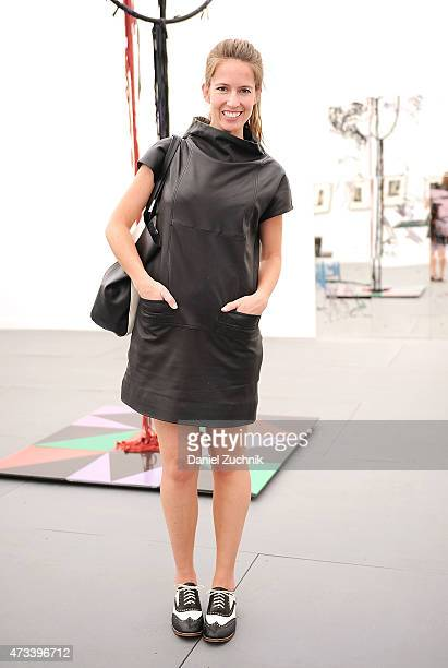 Actress Mallory Culbert is seen wearing a Marc Jacobs dress vintage Oxfords and a Banana Republic bag at Frieze New York 2015 at Randalls Island Park...