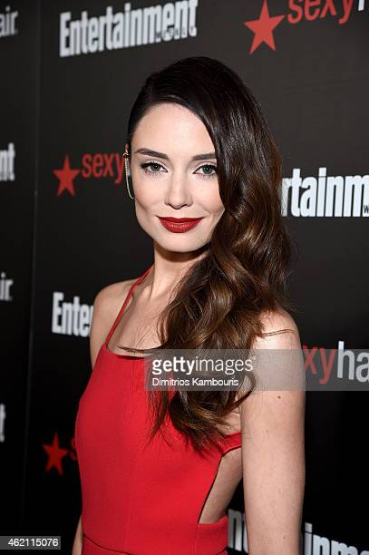 Actress Mallory Jansen attends Entertainment Weekly's celebration honoring the 2015 SAG awards nominees at Chateau Marmont on January 24 2015 in Los...