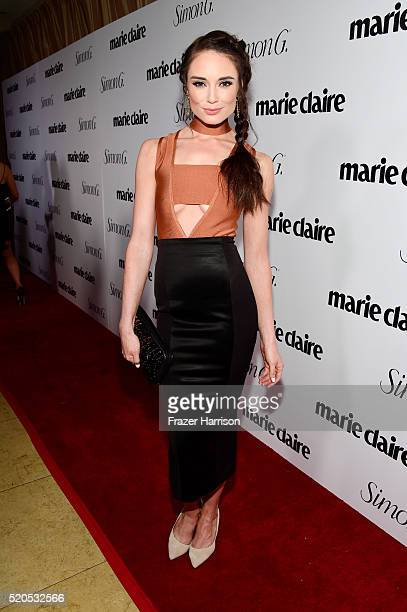 Actress Mallory Jansen attends the 'Fresh Faces' party hosted by Marie Claire celebrating the May issue cover stars on April 11 2016 in Los Angeles...