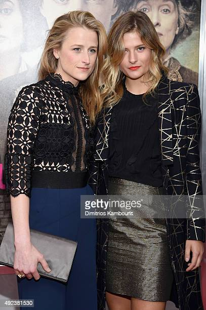 Actress Mamie Gummer and model Louisa Gummer attend the Suffragette New York Premiere at The Paris Theatre on October 12 2015 in New York City