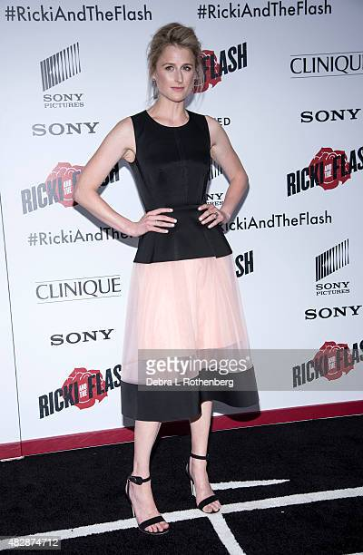 Actress Mamie Gummer arrives at the New York premiere of 'Ricki And The Flash' at AMC Lincoln Square Theater on August 3 2015 in New York City